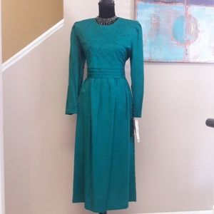 Vintage Karin Stevens/Green/Maxi Dress